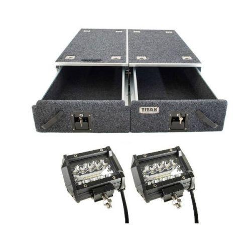 """Titan Drawer System - 1070mm + 4"""" LED Light Bar"""