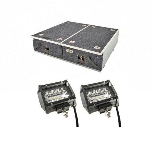 "Titan Drawer System - 900mm + Adventure Kings 4"" LED Light Bar"