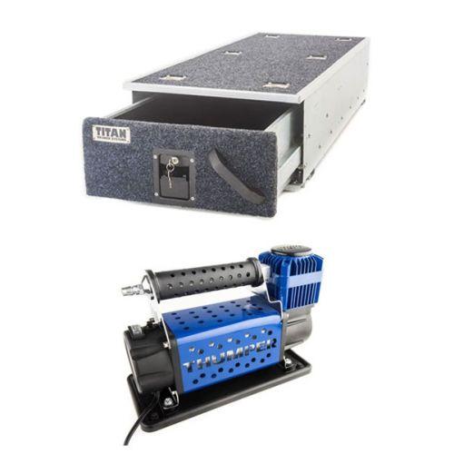 Titan Single Ute Drawer 1300mm + Thumper Air Compressor MKIII
