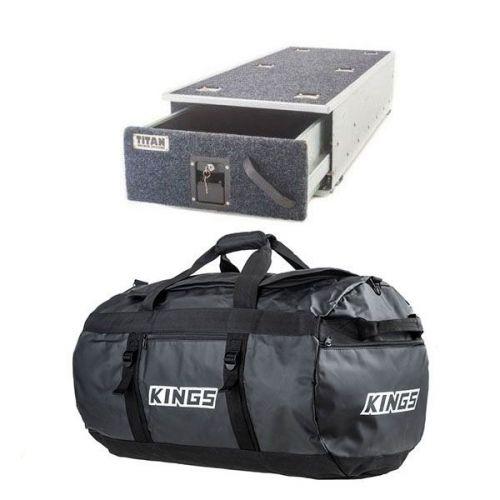 Titan Single Ute Drawer 1300mm + 80L Extra-Large PVC Duffle Bag