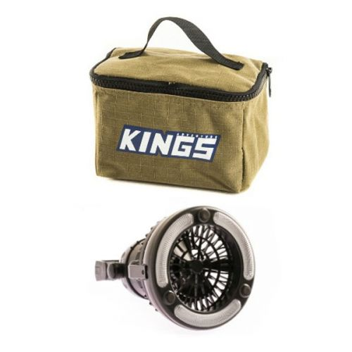 Adventure Kings Toiletry Canvas Bag + 2in1 LED Light & Fan