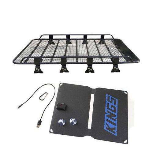 Steel Tradie Roof Racks + Adventure Kings 10W Portable Solar Kit