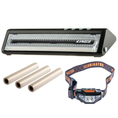 Adventure Kings Vacuum Sealer + Adventure Kings Vacuum Sealer Rolls 3-Pack + Illuminator LED Head Torch