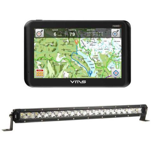 """VMS Touring 700 HDX + Kings 20"""" Slim Line LED Light Bar"""