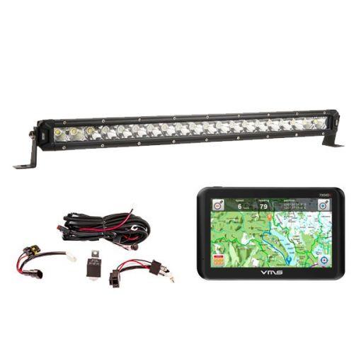 """VMS Touring 700 HDX + Kings 20"""" Slim Line LED Light Bar + Wiring Harness"""