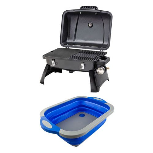 Gasmate Voyager Portable BBQ + Collapsible Sink