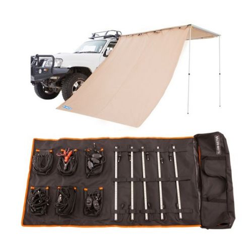 Adventure Kings Awning Side Wall + Adventure Kings Complete 5 Bar Camp Light Kit