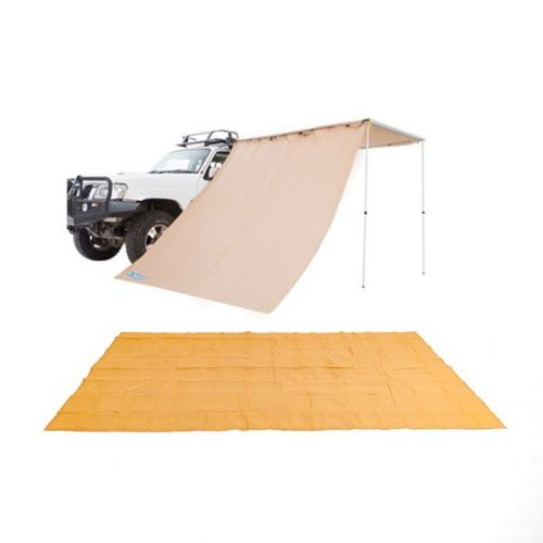 Adventure Kings - Mesh Flooring 5m x 2.5m + Adventure Kings Awning Side Wall