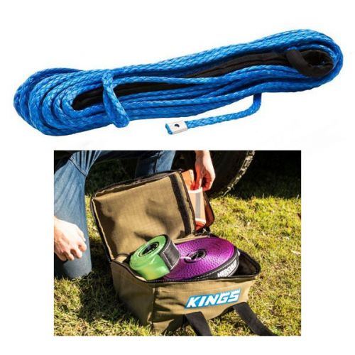 Hercules Synthetic Winch Rope - 9mm x 28m + Canvas Recovery Bag