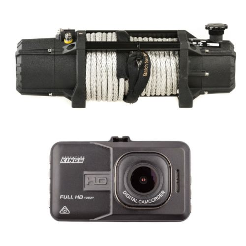 Domin8r Xtreme 12,000lb Winch + Adventure Kings Dash Camera
