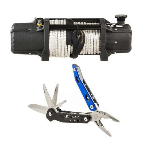 Domin8r Xtreme 12,000lb Winch + Adventure Kings 18-in-1 Multi-Tool