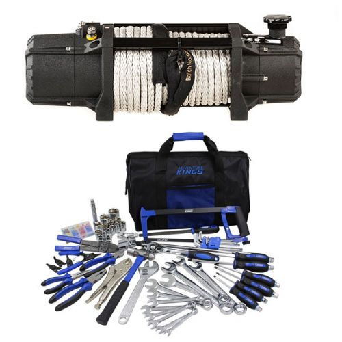 Domin8r Xtreme 12,000lb Winch + Adventure Kings Tool Kit - Ultimate Bush Mechanic
