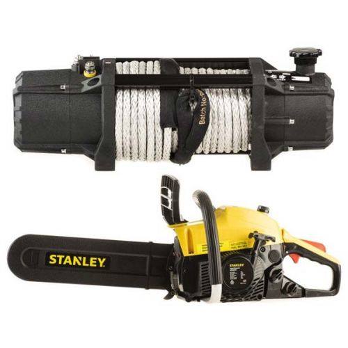 Domin8r Xtreme 12,000lb Winch + Stanley Camping Chainsaw