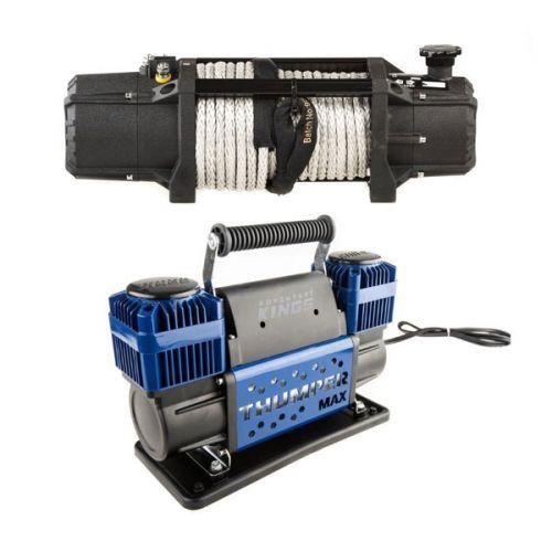 Domin8r Xtreme 12,000lb Winch + Thumper Max Dual Air Compressor MkII
