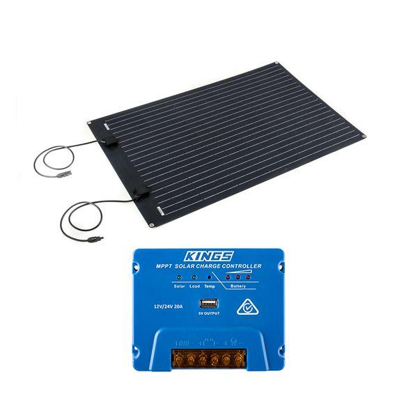 Adventure Kings 110W Semi-Flexible Solar Panel + Adventure Kings MPPT Regulator