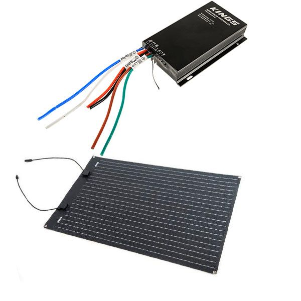 Adventure Kings 110W Semi-Flexible Solar Panel + Adventure Kings MPPT Regulator