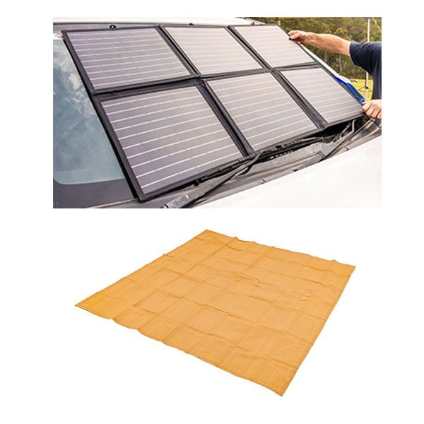 Adventure Kings 120W Portable Solar Blanket + Mesh Flooring 3m x 3m