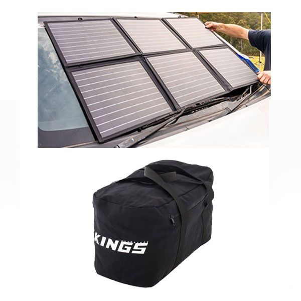 Adventure Kings 120W Portable Solar Blanket + 40L Duffle Bag