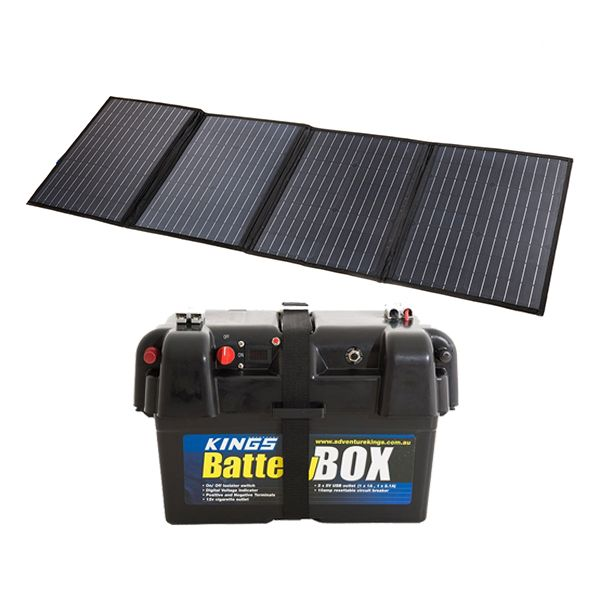 120W Solar Blanket with MPPT Regulator + Adventure Kings Battery Box