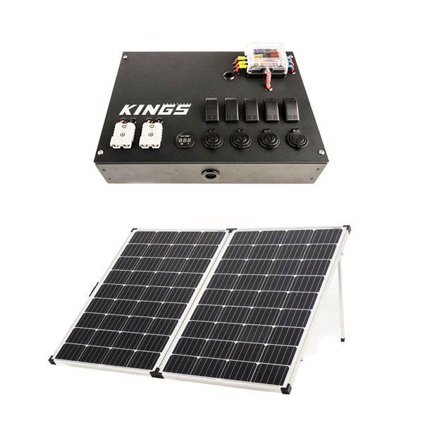 12v Control Box + Adventure Kings 250w Solar Panel