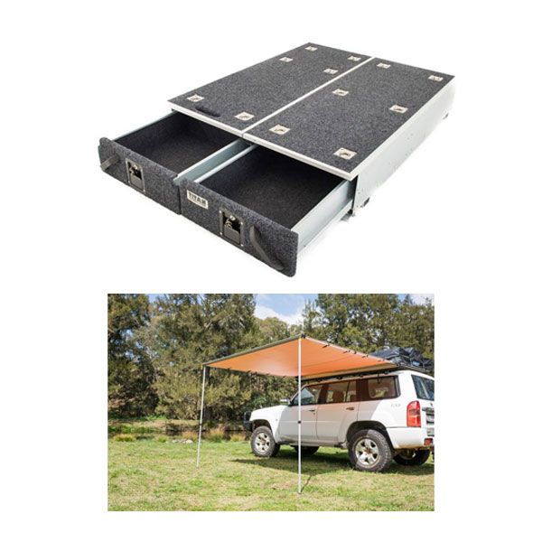 1300mm Titan Drawer System Suitable for Utes + Adventure Kings Awning 2.5x2.5m