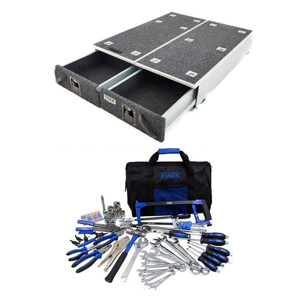 1300mm Titan Drawer System Suitable for Utes + Ultimate Bush Mechanic Tool Kit 150+ Pieces