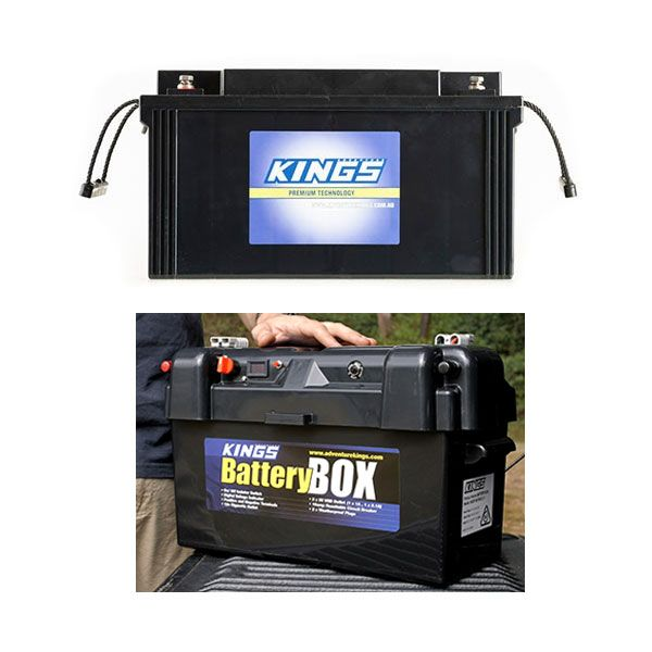 138Ah AGM Deep-Cycle Battery + Adventure Kings Maxi Battery Box