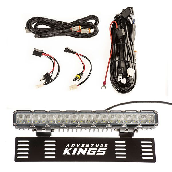 "15"" Numberplate LED Light Bar + Plug N Play Smart Wiring Harness Kit"