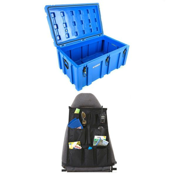 Adventure Kings 156L Storage Box + Car Seat Organiser