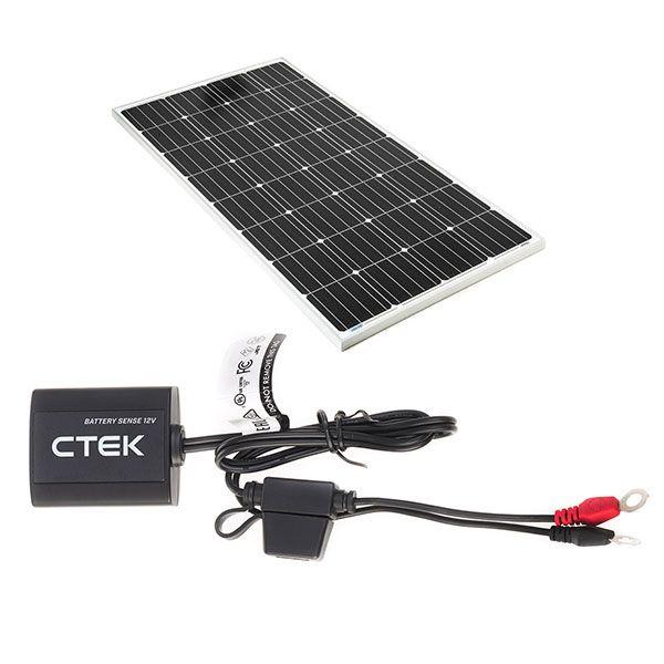 Adventure Kings 160w Fixed Solar Panel + CTEK Battery Sense