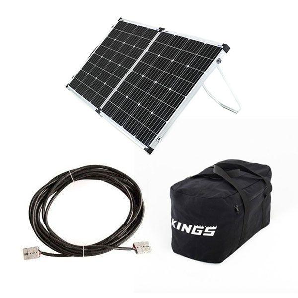 Adventure Kings 160w Solar Panel + 10m Lead For Solar Panel Extension + 40L Duffle Bag