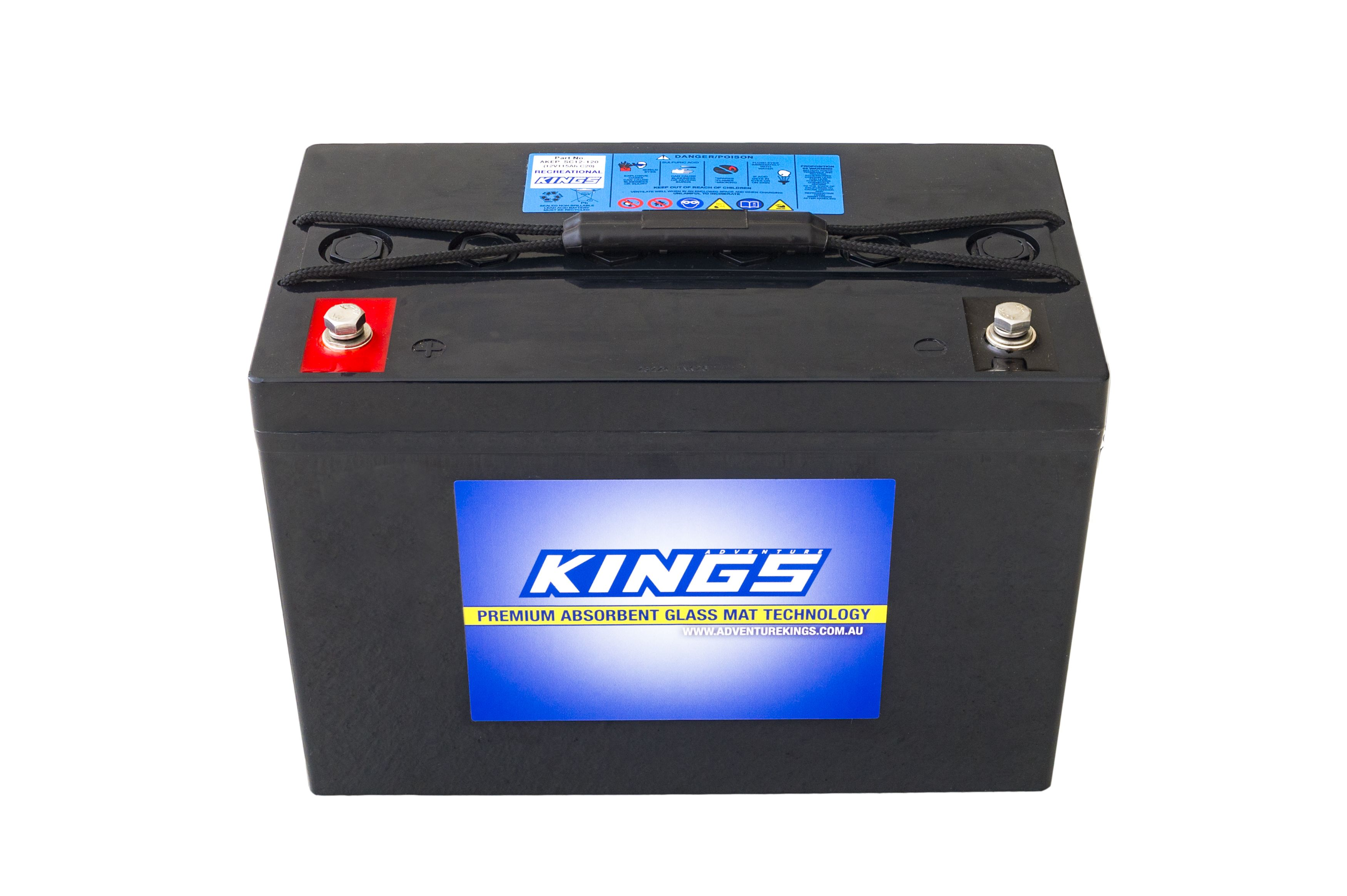 Kings 98Ah AGM Deep Cycle Battery | 12 Month Warranty | Adventure Kings