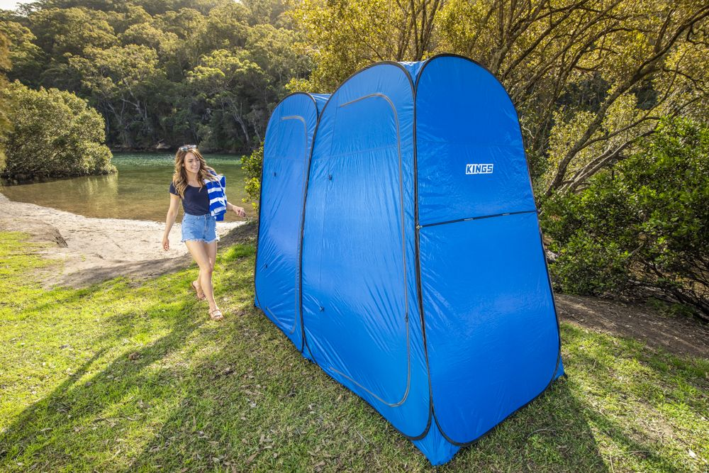 Kings Double Shower Tent   Quick Setup   Twin Rooms   Lightweight & Sturdy Camping Ensuite