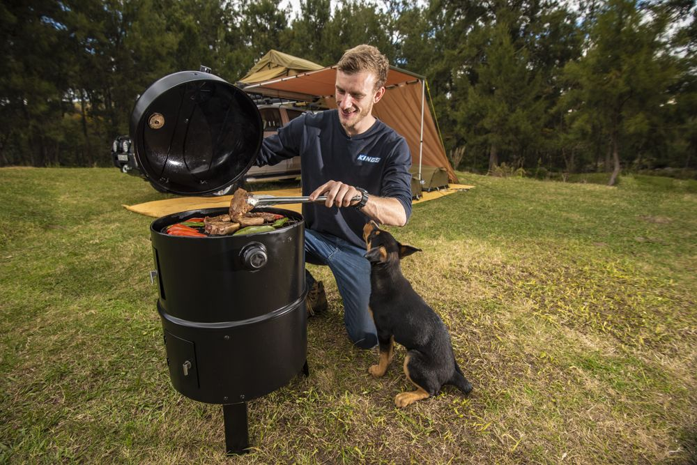 Kings Portable Meat Smoker | Lightweight & Portable |Adjustable Heat