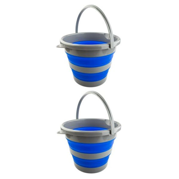 2 x Adventure Kings Collapsible 10L Bucket