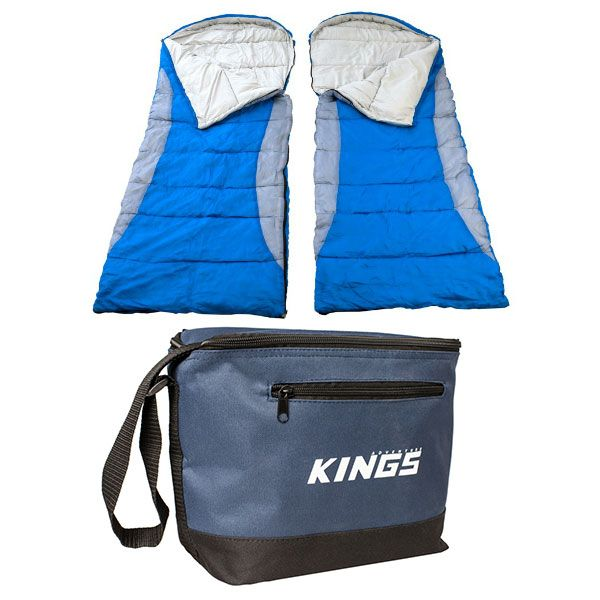 2x Adventure Kings - Hooded Sleeping Bag + Cooler Bag