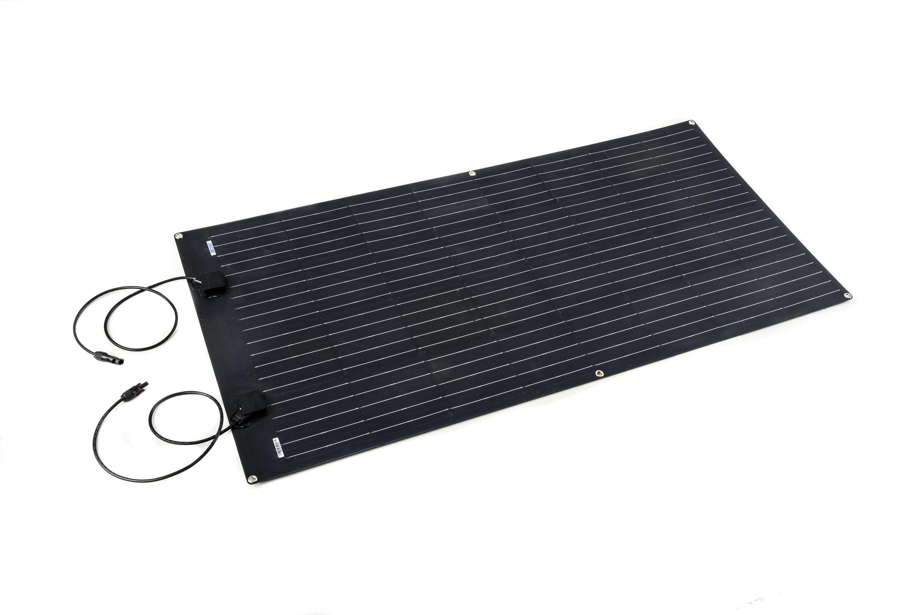 Kings 160W Semi-Flexible Solar Panel   PET construction   Monocrystalline   IP67 Rated