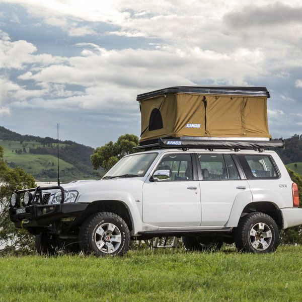Kings Kwiky MKII Hard Shell Rooftop Tent |Improved Internal Bracing | 2min Setup | 100% Waterproof | 50mm Mattress
