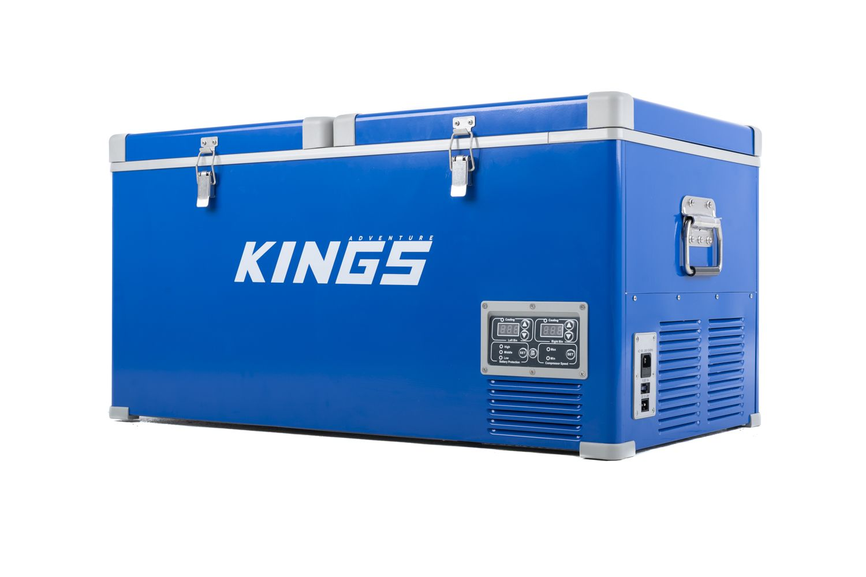 Kings 90L Portable Fridge & Freezer | Dual Zone | SECOP Compressor | 12v/24v/240v | -18c to +10c