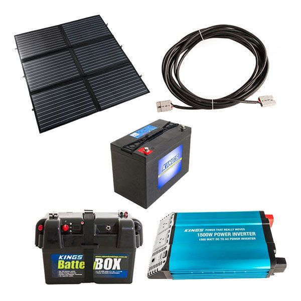 Adventure Kings 200W Portable Solar Complete Camp Power Pack