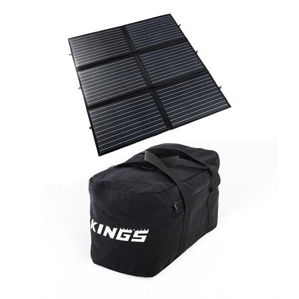Adventure Kings 200W Portable Solar Blanket + 40L Duffle Bag