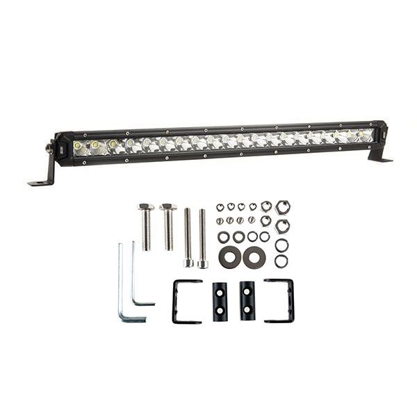 "Adventure Kings 20"" Slim Line LED Light Bar + Sliding Brackets for Slim Line Light Bars (Pair)"