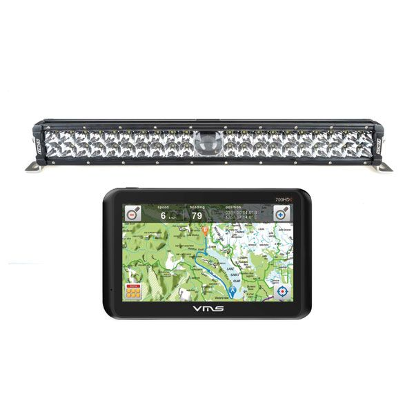 """Adventure Kings 24"""" Laser Light Bar + VMS Touring 700 HDX GPS"""