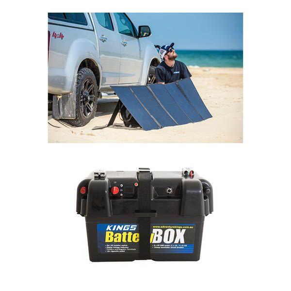 Adventure Kings 250W Solar Blanket with MPPT Regulator + Battery Box