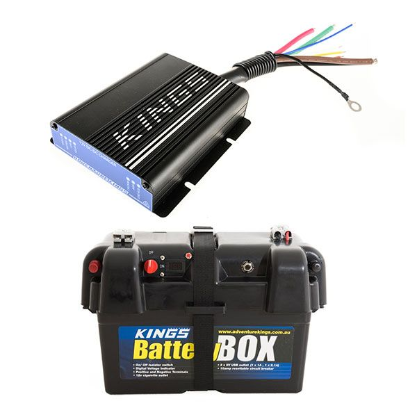Adventure Kings 25AMP DC-DC Charger (with MPPT SOLAR) + Battery Box