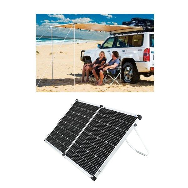 Adventure Kings Awning 2x2.5m + Adventure Kings 160w Solar Panel