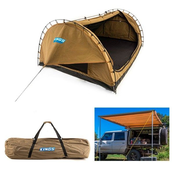 Adventure Kings Big Daddy Double Swag + Big Daddy Polyester Bag + Awning 2 x 3m