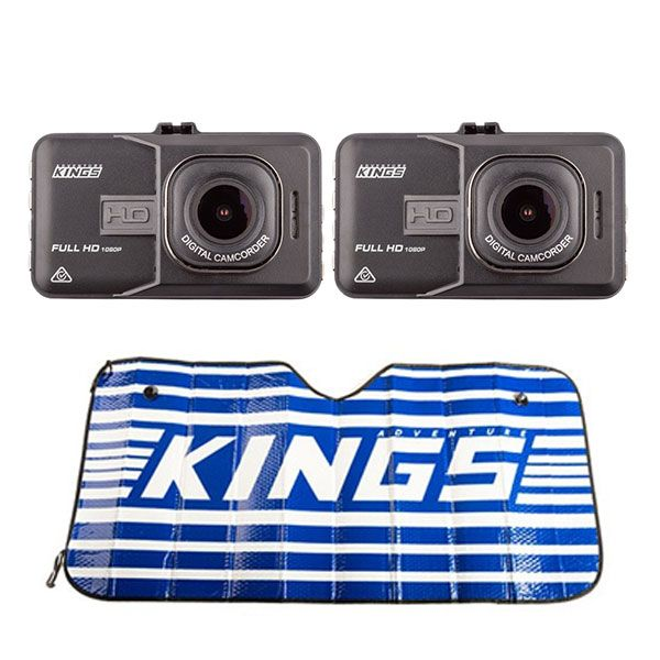 2x Adventure Kings Dash Camera + Sunshade
