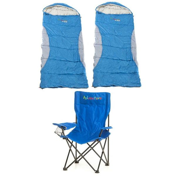Adventure Kids Camping Chair + 2x -2°C Kids' Sleeping Bag