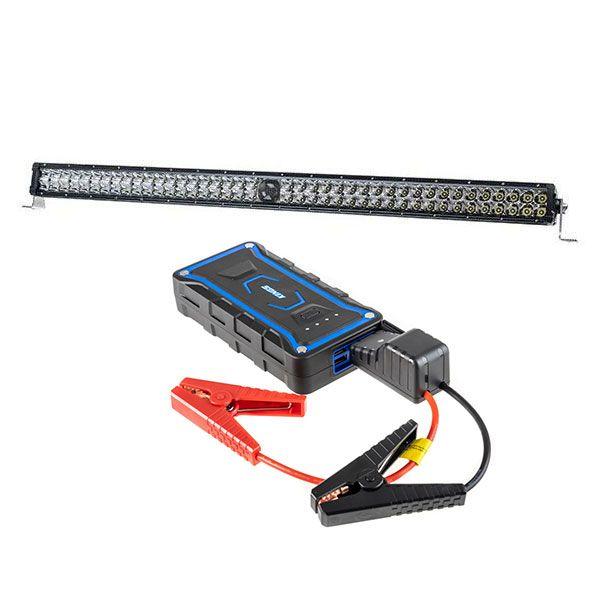 """Kings 30"""" Laser Light Bar + 1000A Lithium Jump Starter"""
